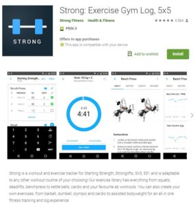 Strong: Exercise Gym Log 5x5 App