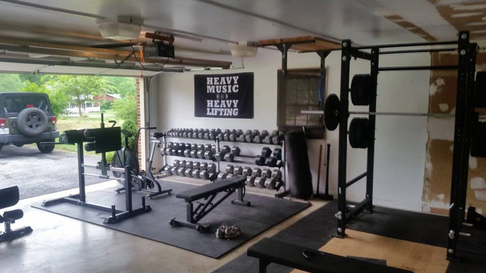 home gym goals full of essential equipment